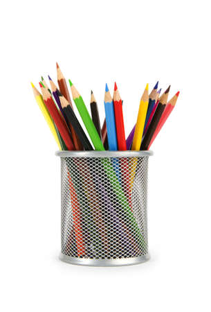 Various colour pencils isolated on the white Stock Photo - 7664530