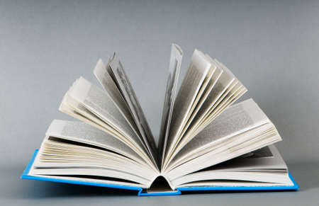 Stack of books on the color background Stock Photo - 7664971