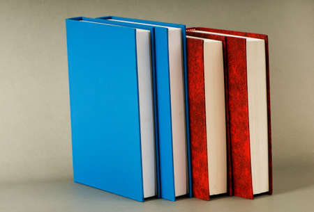 Stack of books on the color background Stock Photo - 7664854