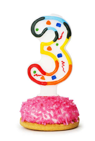Birthday candles isolated on the white background  photo