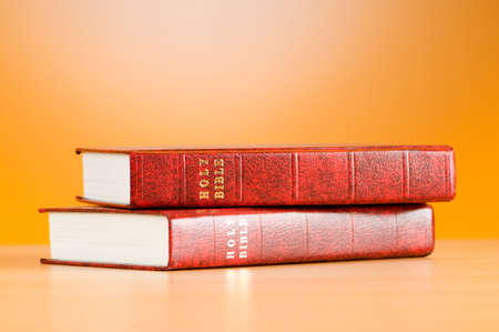 Bible books against the colorful gradient background Stock Photo - 7915129