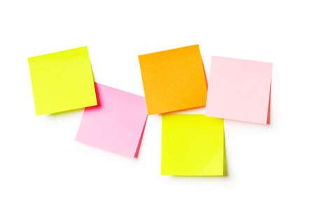 Reminder notes isolated on the white background Stock Photo - 8027968