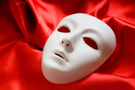 Theatre concept with the white plastic masks Stock Photo - 8028484