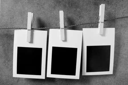 scrapbook frames: Designer concept - blank photo frames for your photos Stock Photo