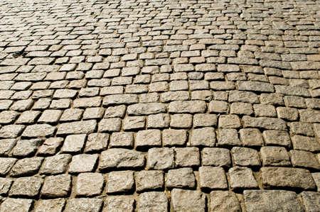 empedrado: Antiguo camino pavimentado con las piedras de hoy