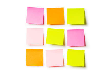 postit note: Reminder notes isolated on the white background