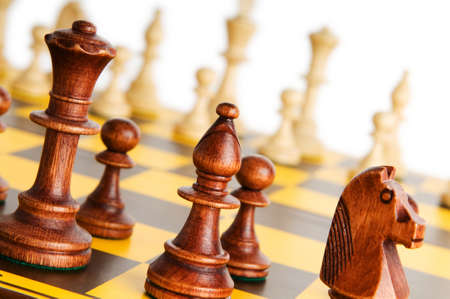 Set of chess figures on the playing board  Stock Photo - 8059707