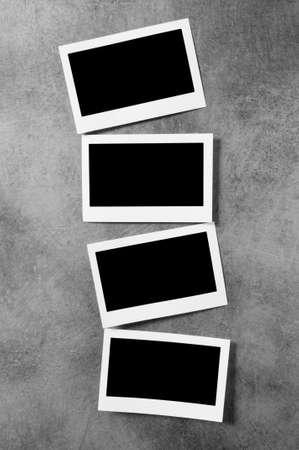 digital photo: Designer concept - blank photo frames for your photos Stock Photo