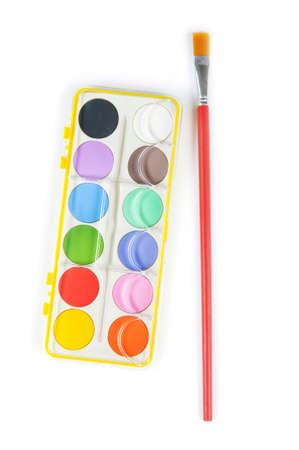 Art concept with painters palette and paint brush Stock Photo - 8137268