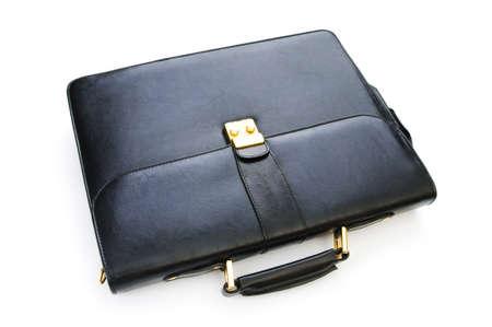 Leather case isolated on the white background photo