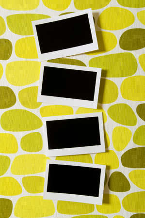 photos of pattern: Designer concept - blank photo frames for your photos Stock Photo
