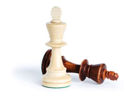 chess king: Chess figure isolated on the white background Stock Photo