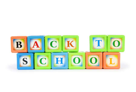 Back to schol concept with alphabet blocks photo