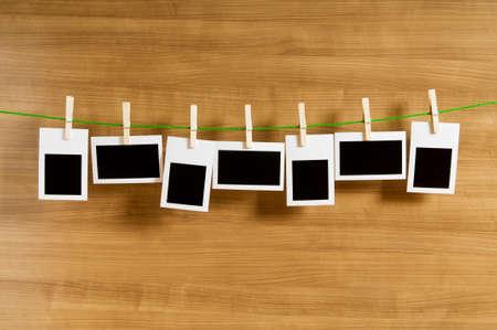 Designer concept - blank photo frames for your photos Stock Photo
