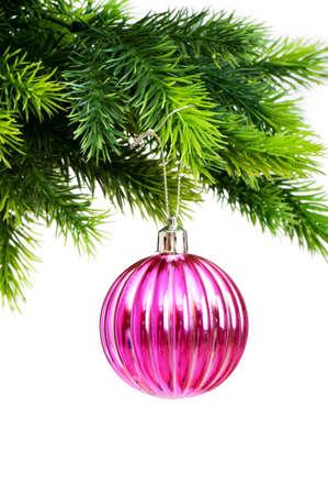 Kerst decoratie geïsoleerd op de witte achtergrond