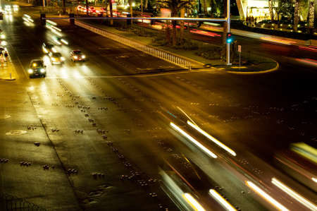 Moving traffic and car lights in the evening Stock Photo - 8361851