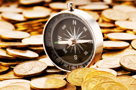 magnets: Financial concept - navigating in difficult times for markets Stock Photo