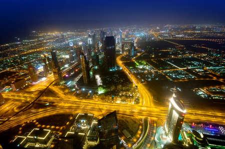 Panorama of down town Dubai city - UAE photo