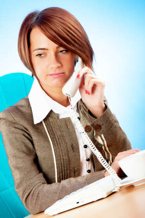 Young businesswoman talking on the phone Stock Photo - 8400274