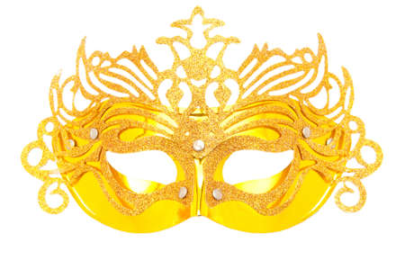 Ornate masks isolated on the white background Stock Photo - 8400280