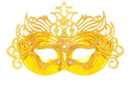 Ornate masks isolated on the white background Stock Photo