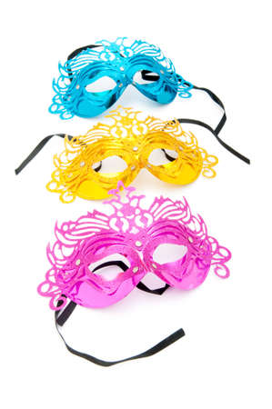 Ornate masks isolated on the white background Stock Photo - 8400549