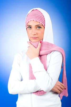 moslem: Nice looking woman in the warm clothing