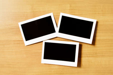 Designer concept - blank photo frames for your photos photo