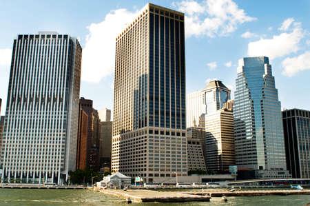 Panorama de la ciudad - 4 Sep - de Nueva York con rascacielos Foto de archivo