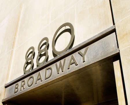 broadway: Ber�hmten Broadway Stra�e Zeichen in Downtown New York