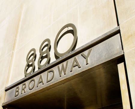 Famous broadway street signs in downtown New York Stock Photo - 8459982