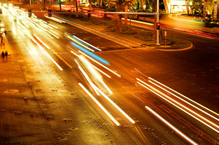 Moving traffic and car lights in the evening Stock Photo - 8460209