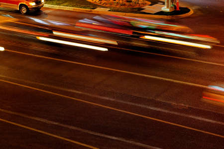 Moving traffic and car lights in the evening Stock Photo - 8460200