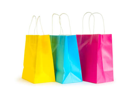 Shopping bags isolated on the white background Stock Photo - 8455483