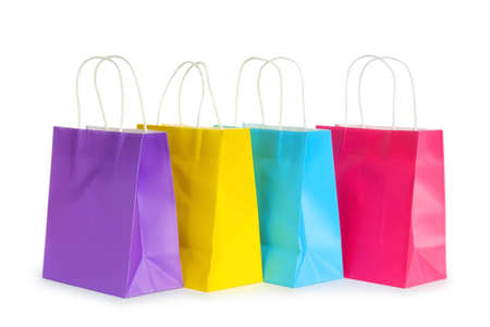 Shopping bags isolated on the white background photo