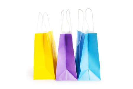 Shopping bags isolated on the white background Stock Photo - 8455482