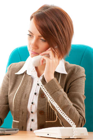 Young businesswoman talking on the phone Stock Photo - 8472784