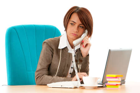 Young business woman working in the office Stock Photo - 8472790
