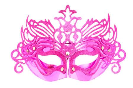 drama masks: Ornate masks isolated on the white background Stock Photo