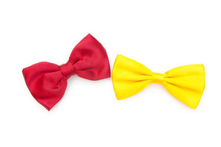 Red bow tie isolated on the white Stock Photo - 8459820