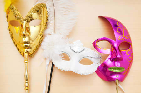 Ornate masks isolated on the white background Stock Photo - 8460045
