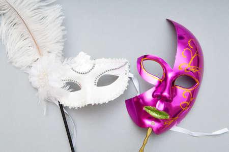 Ornate masks isolated on the white background Stock Photo - 8460097