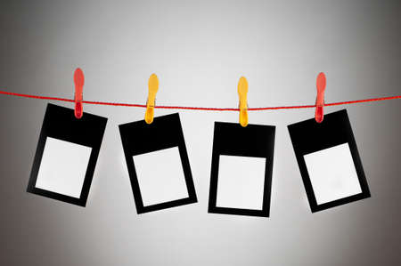 Designer concept - blank photo frames for your photos photo