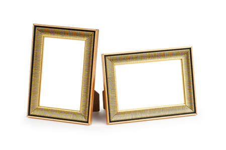 old album: Picture frame isolated on the white background Stock Photo