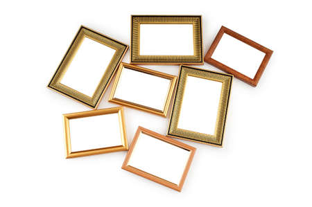 Picture frame isolated on the white background Stock Photo - 8614237