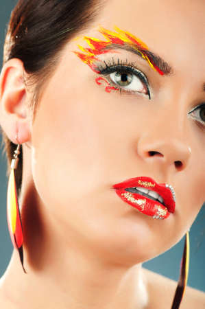 Attractive woman with the stylish make up Stock Photo - 8616270