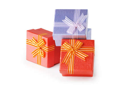 Gift boxes isolated on the white background Stock Photo - 8615136