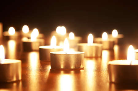 Many burning candles with shallow depth of field Stock Photo - 8614892
