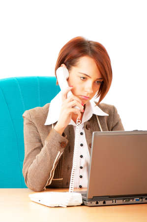 Young business woman working in the office Stock Photo - 8627995
