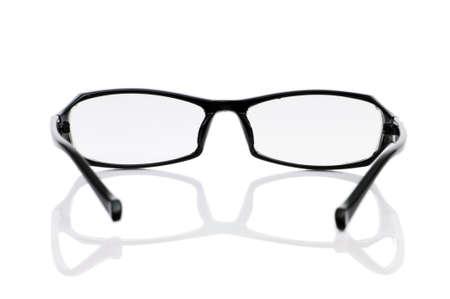 Reading optical glasses isolated on the white photo